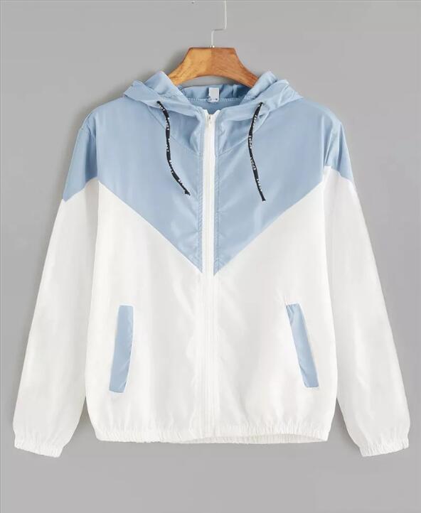 Women's Hooded Jackets 2020 Summer Causal Windbreaker Women Basic Jackets Coats Sweater Zipper Lightweight Jackets Bomber Famale