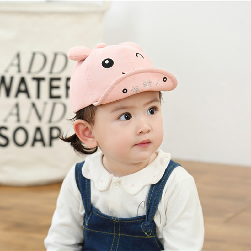 Hcb505f34247b4c4abce099bc2044d57f6 - Baby Hat Cute Bear Embroidered Kids Girl Boy Caps Cotton Adjustable Newborn Baseball Cap Infant Toddler Beach Outdoor Sun Hat