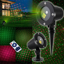 Outdoor Moving Full Sky Star Laser Projector Landscape Lighting Red&Green LED Stage Light for Christmas Party Garden Lights aucd outdoor indoor green red rg laser projector lights landscape garden yard home party xmas buried lighting od 100rg