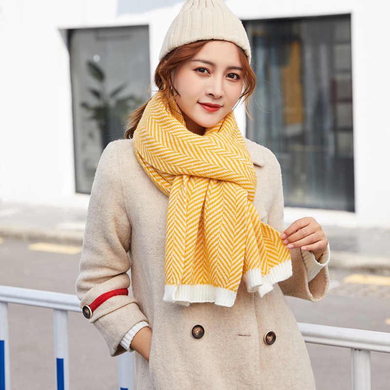 Dressuup 2019 신사 숙녀 스카프 캐시미어 니트 스카프 겨울 따뜻한 소프트 bufandas cachecol 코튼 스카프 여성 남성용