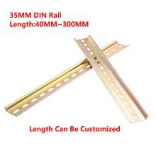 Универсальный тип 35 мм шлицевая din-рейка длиной 10 см 20 см 30 см толщина 1 мм для C45 DZ47 клеммные блоки контактор
