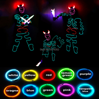 Music Festival Costume Robot Cosplay Led Costume Novelty Performance EL Wire Clothes Glowing Party Christmas Shining Costume