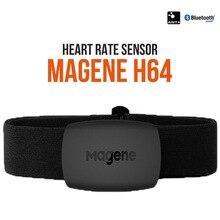 Монитор сердечного ритма Magene Mover H64 Bluetooth 4,0 ANT + датчик Magene с нагрудным ремнем для компьютера велосипеда Wahoo Garmin BT спортивный ремень