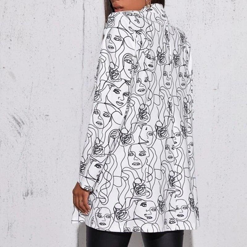 Hcb50d5707a344d849c52230cf1c256aae Fashion Trend Women Lapel Leopard Print Long Sleeves Suit Jacket Elegant Fall Winter Office Lady Cardigan Coat Casual Streetwear