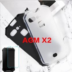 На Алиэкспресс купить чехол для смартфона for agm x2 case for agm x2 cover + screen protector tempered glass protective film for agm x2 se