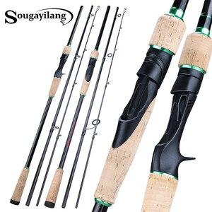 Image 1 - Soogayilang caña de pescar de fundición giratoria con 3 secciones, 1,8 2,4 M, ultraligera, portátil, para viaje