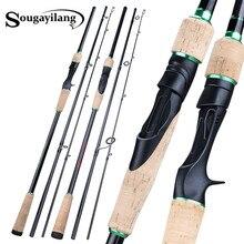Sougayilang 1.8 2.4M 3 Sezioni Spinning Al Casting Canna Da Pesca con il Carbonio Ultra Light Portable Viaggi di Pesca Pole Affrontare
