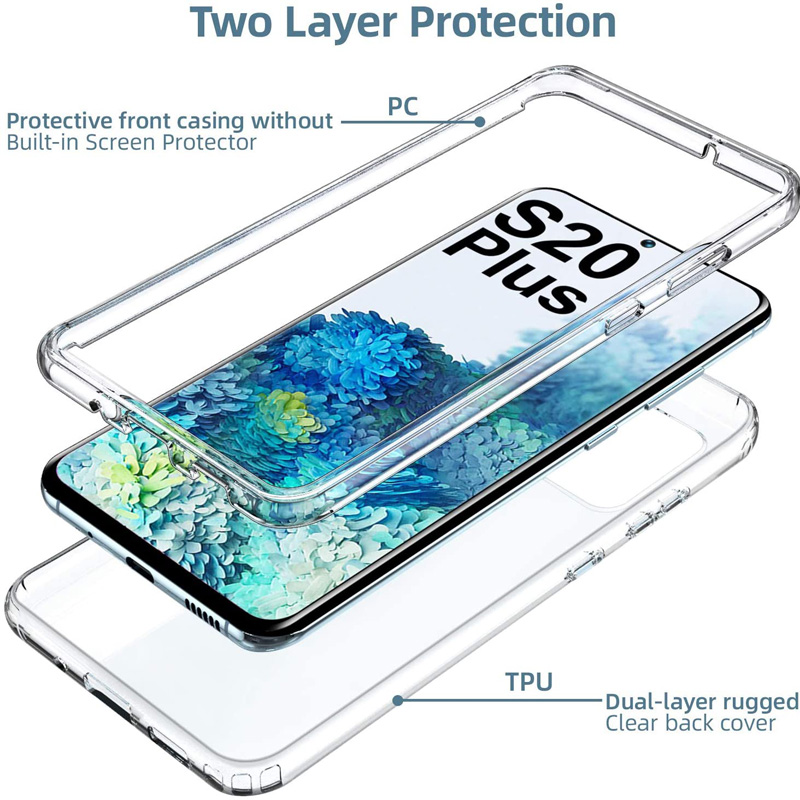 360 Double Soft Clear Cover For Samsung Galaxy M21 A01 A31 A51 A71 A10 A10S A20S A20 A30 A30S A50 S20 Ultra J4 J6 S10 Plus Case
