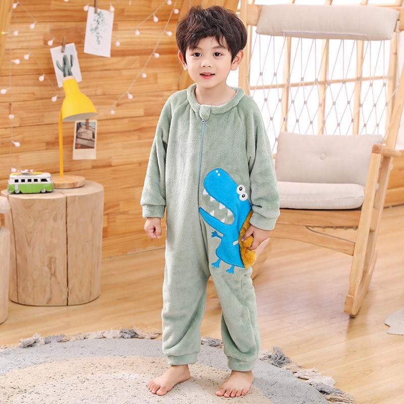 Детский комбинезон, пижама, одежда для маленьких девочек и мальчиков, детская одежда для сна с мультяшными животными, пижама для косплея уни...