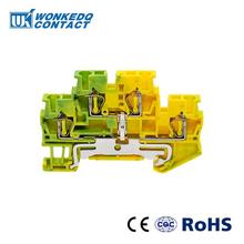 10Pcs STTB-2.5PE Instead of PHOENIX CONTACT Connectors Double Layer Return Pull Type  Spring Ground Terminal Blocks Screwless