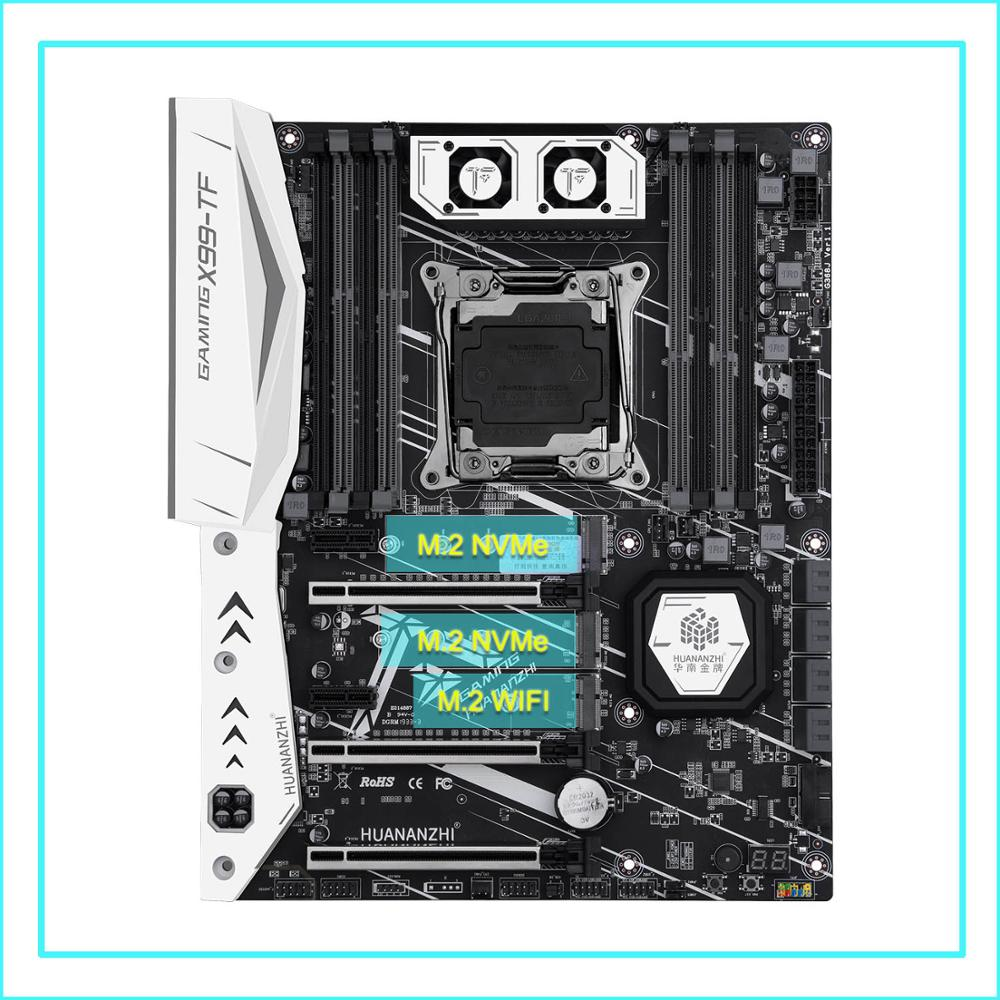 HUANANZHI X99 motherboard bundle X99-TF motherboard with dual M.2 slot M.2 WIFI slot CPU 2670 V3 with cooler RAM 64G(4*16G) DDR4 2