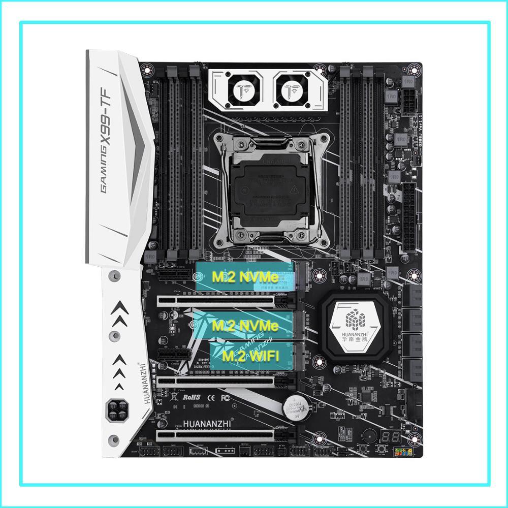 Nouveauté marque HUANANZHI X99-TF carte mère avec double M.2 NVMe SSD slot discount X99 LGA2011-3 carte mère avec M.2 WIFI slot
