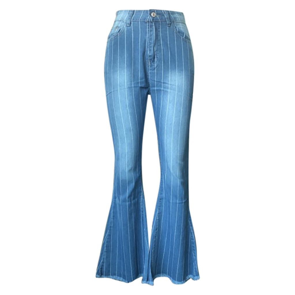 Hcb513c4c116d47afbea98573ddafe56aj Fall Spring Fashion Denim Flare Jeans Women High Waisted Buttons Stretch Tassel Blue Autumn Elastic Jeans Trousers For Woman