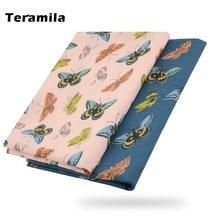 Teramila Печатный узор бабочки ткань хлопок 100% для шитья одежда
