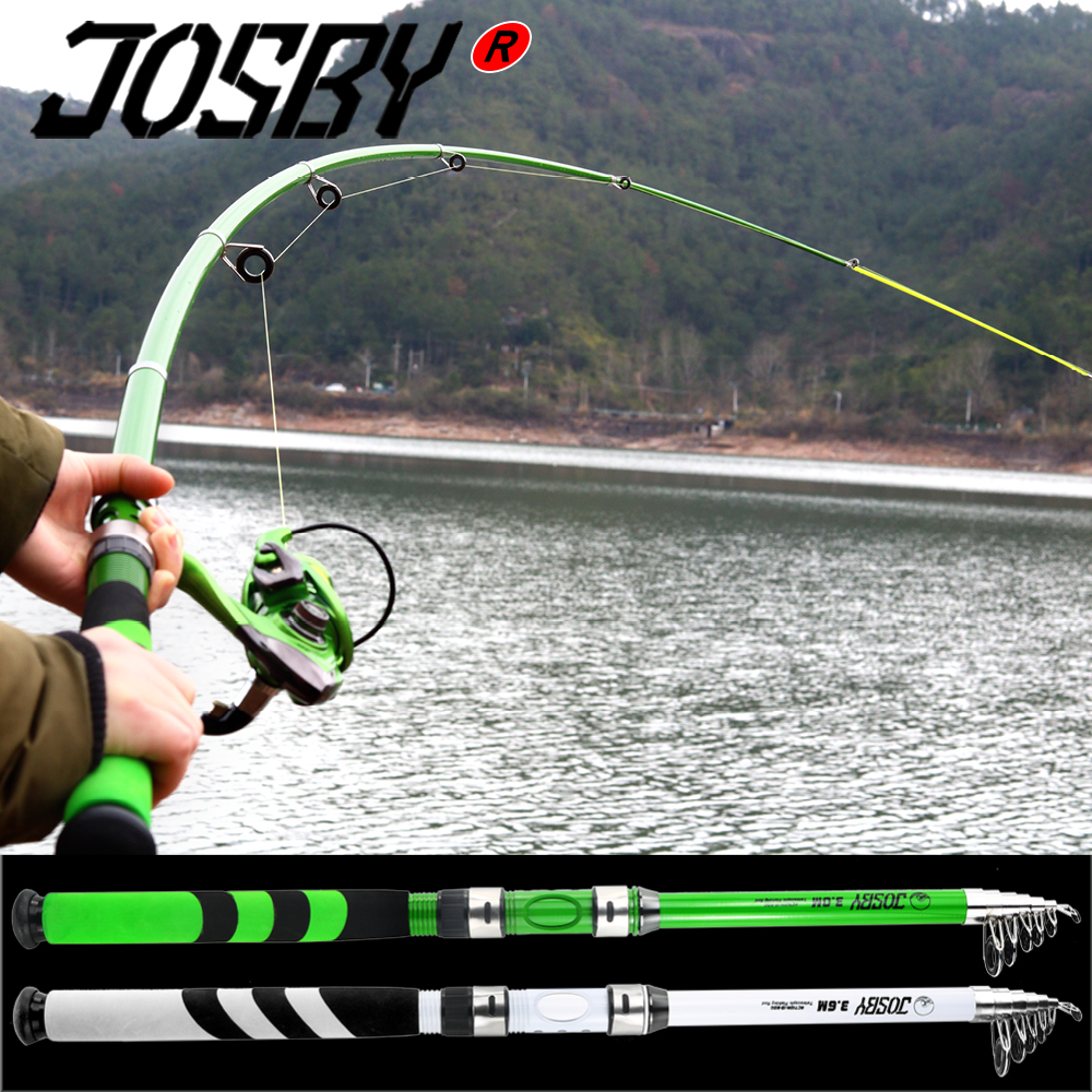 JOSBY Carbon Fiber Telescopic Carp Pesca Sea Fishing Rod Pole Portable Spinning Travel Ultralight 2.1M 2.4M 2.7M 3.0M 2020 NEW