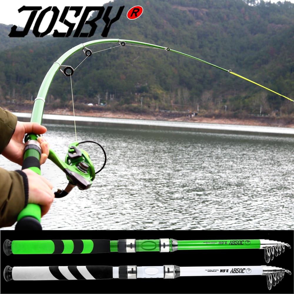 JOSBY Carbon Fiber Telescopic Carp Pesca Sea Fishing Rod Pole Portable Spinning Travel Ultralight 2.1M 2.4M 2.7M 3.0M 2020 NEW