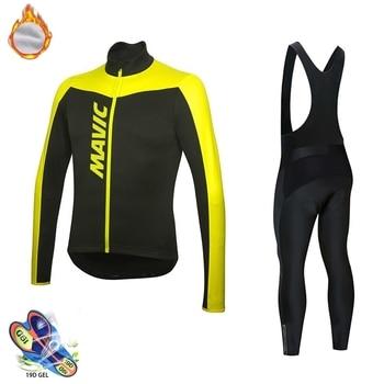MAVIC-maillot térmico de lana para hombre, Ropa de ciclismo de manga larga,...