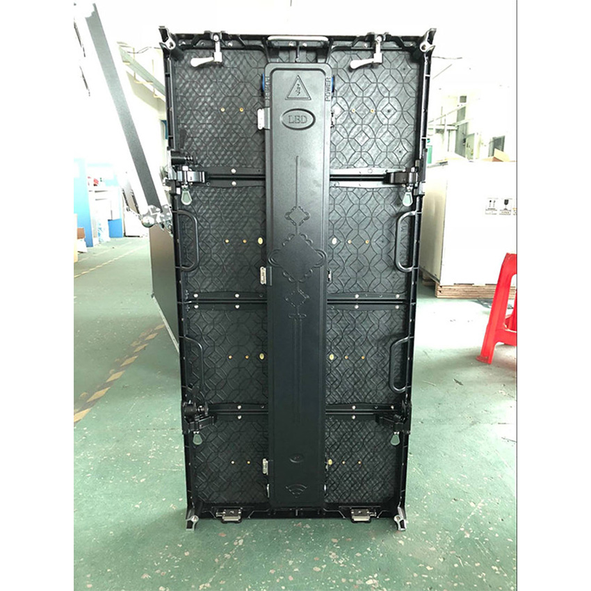 500x1000mm 104*208dots Die Cast Aluminum Cabinet P4.81 Outdoor Rgb Led Display Screen Advertising  Rental Video Wall Panel