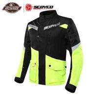 SCOYCO Summer Motorcycle Jacket Men Moto Jacket Breathable Reflective Riding Jacket Motorcycle With Protectors Touring Moto Coat