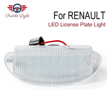 1pc Car LED License Plate Light 12V SMD3528 LED Number Plate Lamp For Renault Clio II Twingo I цена в Москве и Питере