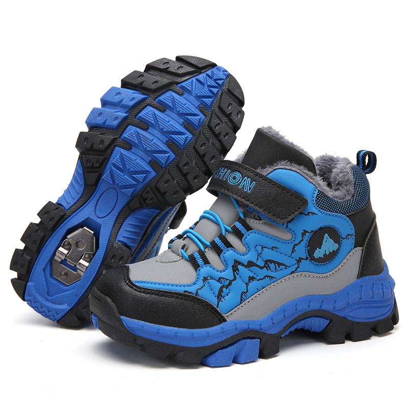 Children Outdoor Sport Hiking Boots Teenagers Mountain Climbing Trekking Shoes Boy Winter Ankle Boots Nonslip Claw Boys Sneakers