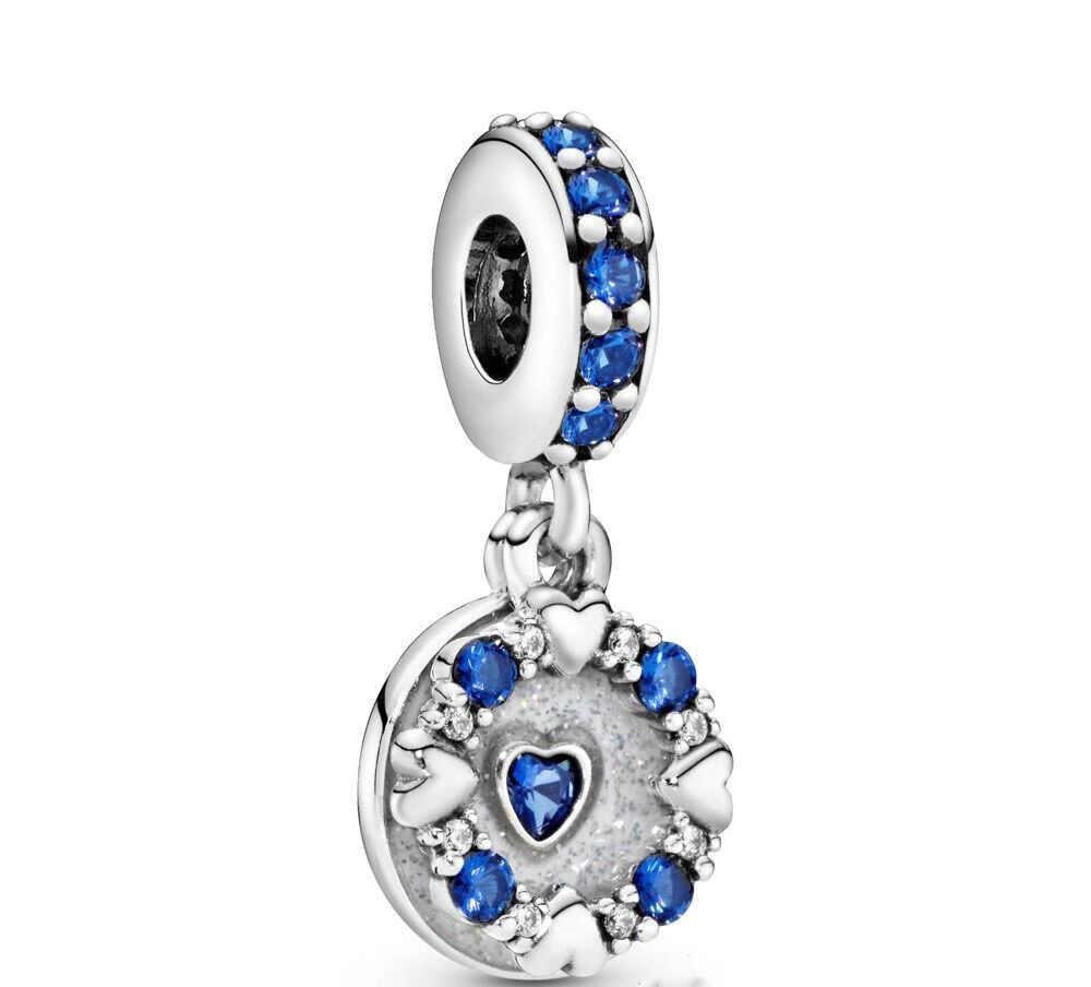 2019 ใหม่ Original Blue Sweet Night Starry Sky ลูกปัด Pandora Charms เงิน 925 สร้อยข้อมือลูกปัดผู้หญิง DIY แฟชั่นเครื่องประดับ