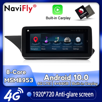 NaviFly New Android 10.0 Car dvd radio multimedia Player GPS for Mercedes Benz E class W212 E200 E300 E400 E500 2009-2015 image