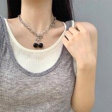 Женское винтажное ожерелье с черной вишней в Корейском стиле