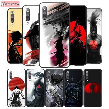 Para Xiaomi 10 CC9 A3 Lite funda negra guerrero Samurai soldado de Japón para Xiaomi Redmi Note 9 9S Max 8T 8 8A GO Pro funda de teléfono