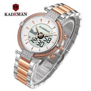 Image 2 - KADEMAN montre de luxe pour femmes, montre Bracelet LCD, numérique, élégant, de marque, à la mode, pour filles, nouvelle collection de cadeaux