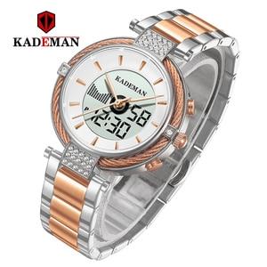 Image 2 - Kademan女性液晶高級新しいギフト女性デジタル腕時計ファッションガールトップブランドブレスレットエレガントな女性のビジネス腕時計