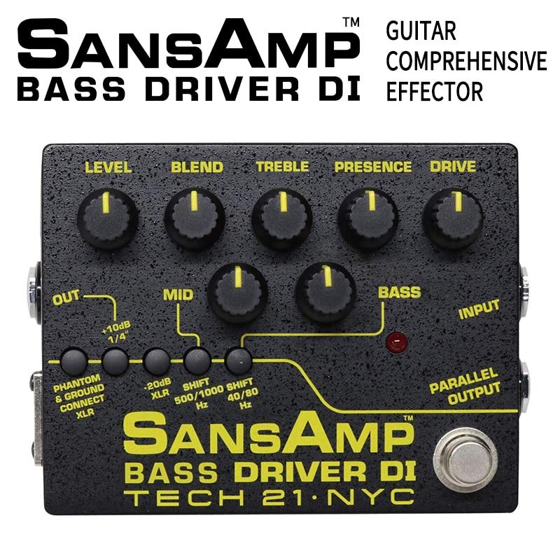 Tech 21 SansAmp Bass Driver Di BSDR-V2 Electric Guitar Single Piece Comprehensive Effect Device