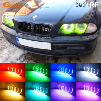 RF remote control Bluetooth APP Multi-Color Ultra bright RGB LED Angel Eyes For BMW E46 Coupe Convertible PRE-FACELIFT 1999-2003