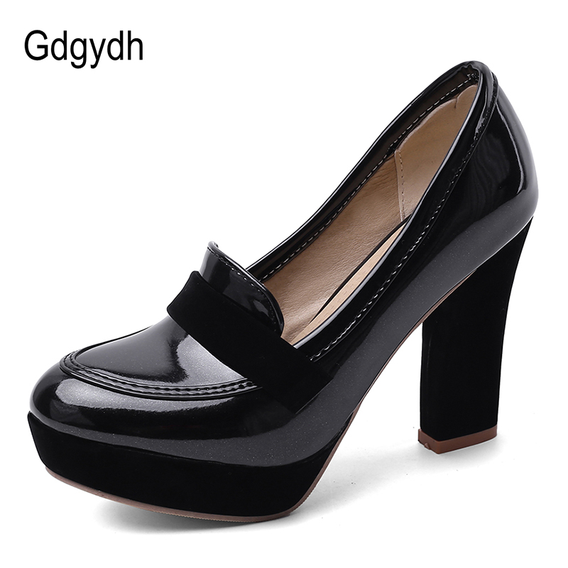 Gdgydh Plus Size 48 Ladies High Heel Shoes Spring Summer Genuine Leather Womens Pumps Platform Sexy Dress Footwear Ol Shoes New
