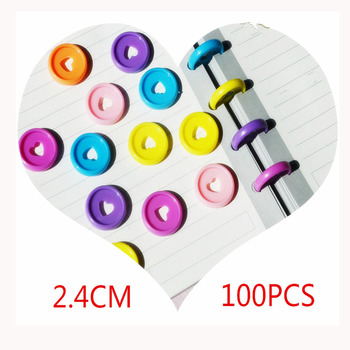 100 PCS 24mm notebook plastic binder ring buckle DIY 360 degree rotating mushroom hole color learning binding supplies - discount item  45% OFF Office Binding Supplies