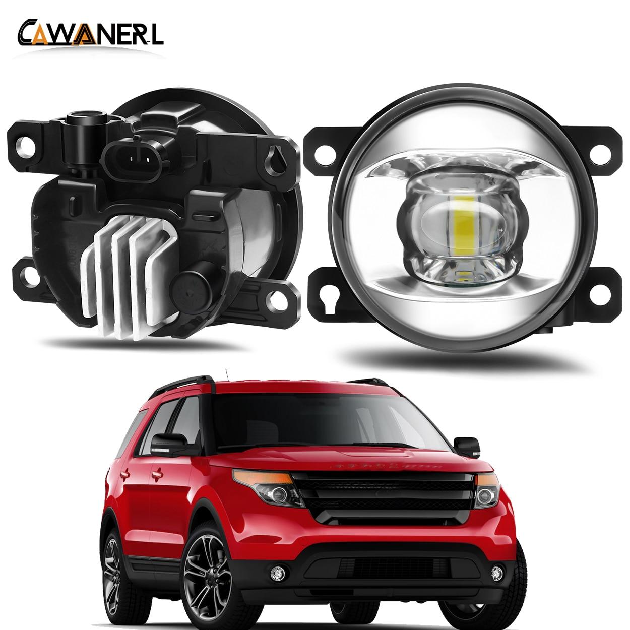 Fog Light Assembly For Ford Explorer 2011 2012 2013 2014 Car Front Bumper LED Lens Fog Lamp Daytime Running Light DRL 30W 12V