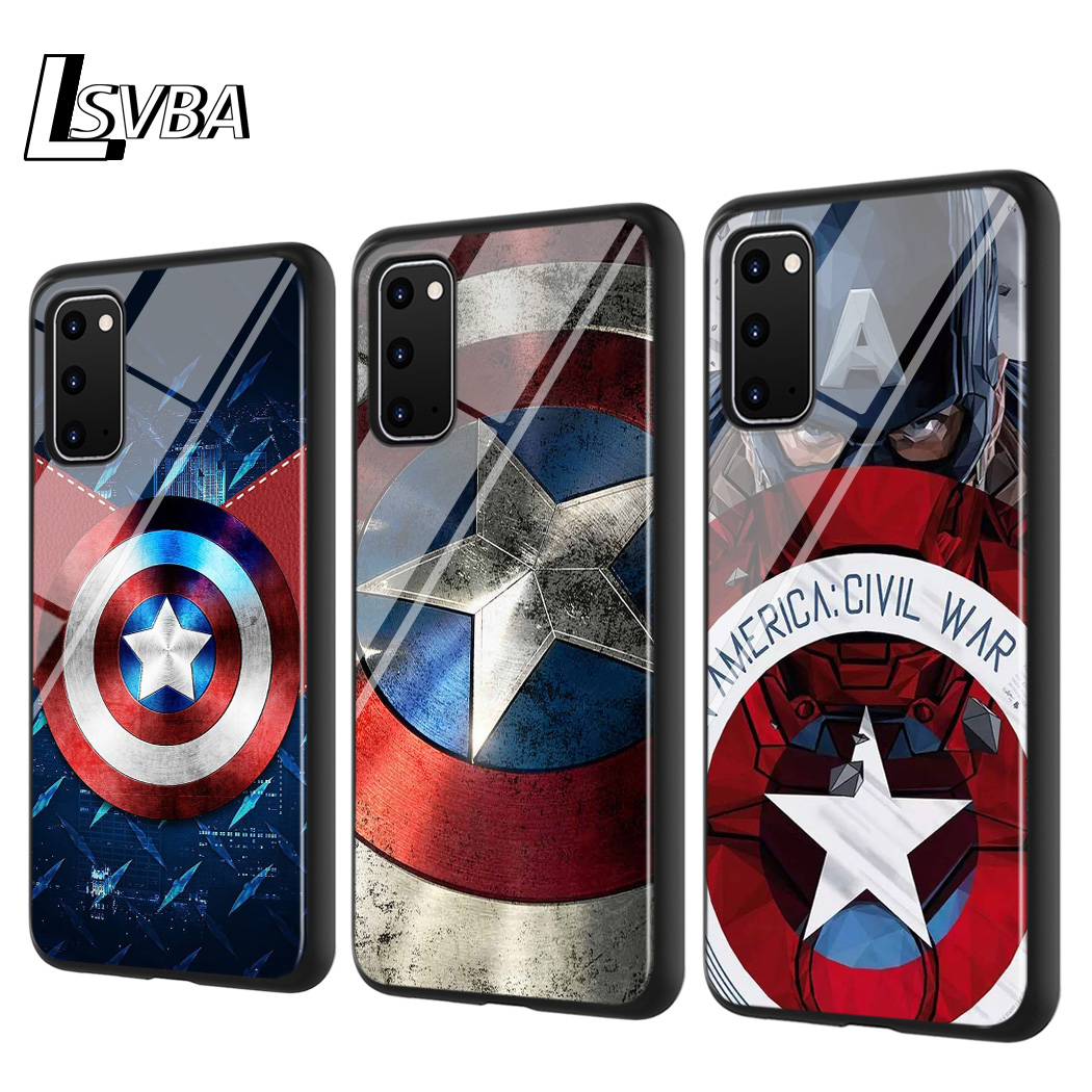 America Captain Avengers For Samsung Galaxy Note 10 Lite S20ultra S20 Plus A01 A21 A51 A71 A81 A91 Super Bright Phone Case