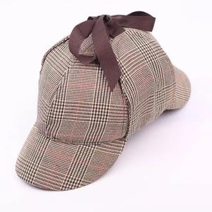 Image 2 - SHOWERSMILE Sherlock Holmes Hat Unisex Winter Wool Berets For Men Deerstalker Tweed Cap Accessories British Detective Hat Women