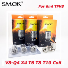 Original SMOK TFV8 Coil Head V8-T8 V8-T6 V8-Q4 V8-X4 V8-T10 For 6ml TFV8 Cloud Beast Tank Electronic cigarette Atomizer Core(China)