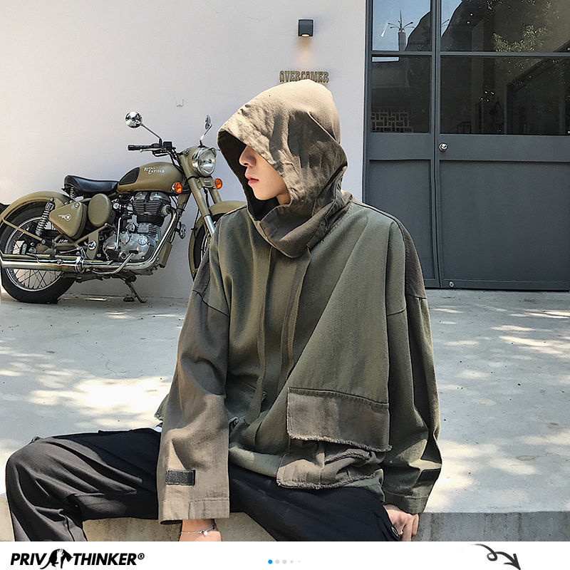 Privathinker Mens Hip Hop Fashion Summer Pocket Hoodies Man 2020 Harajuku Pullover Hooded Sweatshirts Male Couple Spring Clothes