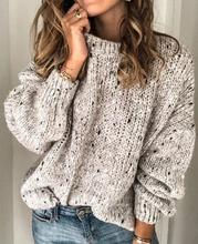 Women Fashion O Neck Loose Knitted Sweater Short Plus Size Long Sleeve Jumper Tops Casual Autumn Winter Sweater Pullover womens casual o neck sweater knitted loose long sleeve tops slim fit pullover
