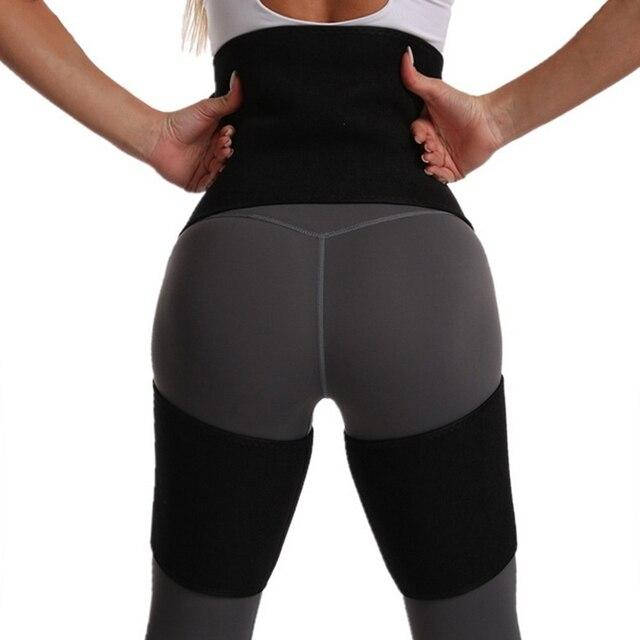 Neoprene Sweat Body Shaper Legs Shaper Slimming Control Fat Shapewear Women's Support Slimmer Belt Legs Reduce Wraps 4