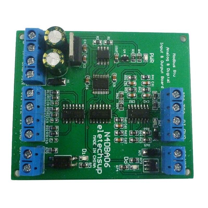 N4DBA06 8 Channel Analog Digital IO Module RS485 Modbus ADC DAC with Din Rail Box