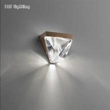 Современный золотой/черный металлический Хрустальный светодиодный настенный светильник прикроватное лестничное настенное бра для ванной комнаты ночной атмосферный настенный светильник поверхностное крепление