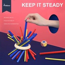 Mideer-juego familiar de habilidad y destreza para niños mayores de 6 años, palo educativo, rompecabezas, juguetes para niños, regalo