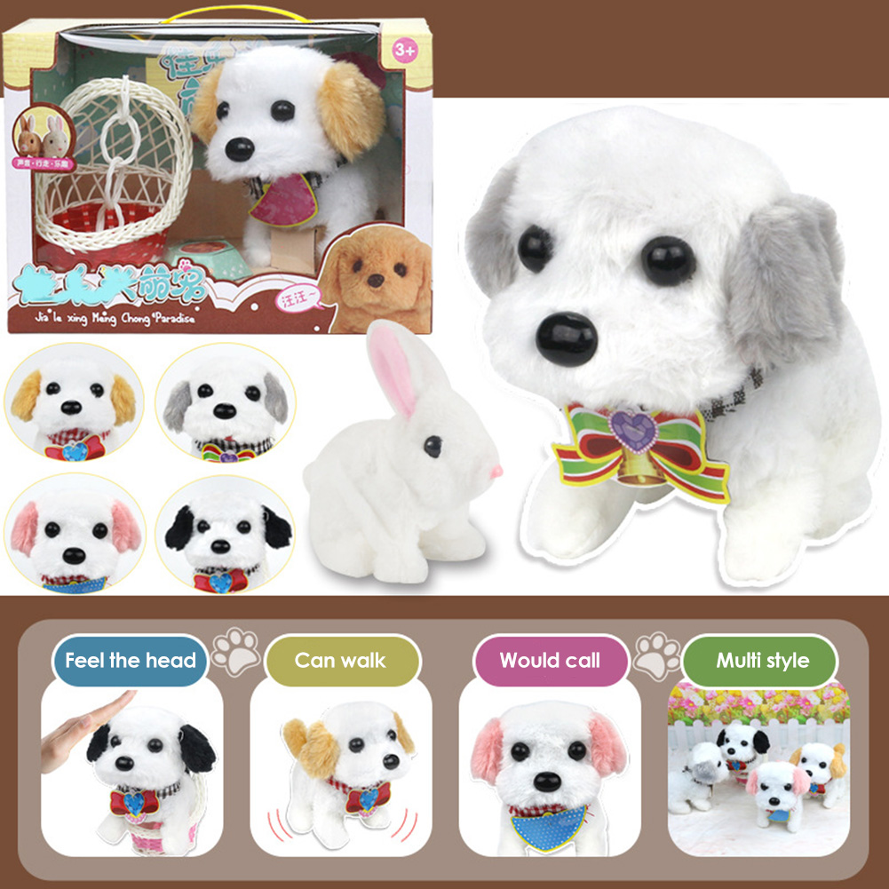 Kids Electronic Pets Toys Exercise Practical Ability Color Cognition Walking Barking Interactive Pets Playing House Toys