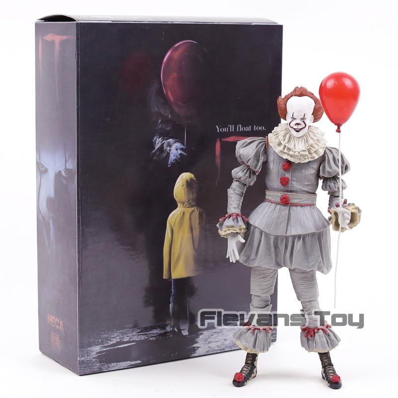 NECA Stephen König der Es Pennywise Joker Clown BJD Joint Bewegen Action Figure Spielzeug Puppen für Halloween Geschenk
