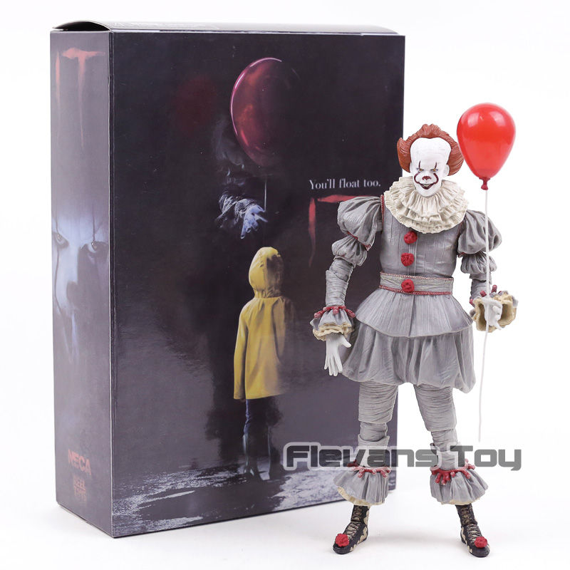 NECA Stephen King's It Pennywise Joker Clown BJD Joint Move Action Figure Toys Dolls For Halloween Gift