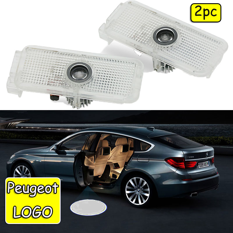 2pcs Car Door Logo Projector Light For Peugeot 307 308 508 408 RCZ 206 306 207 208 406 5008 607 806 807 Ghost Shadow Lamp