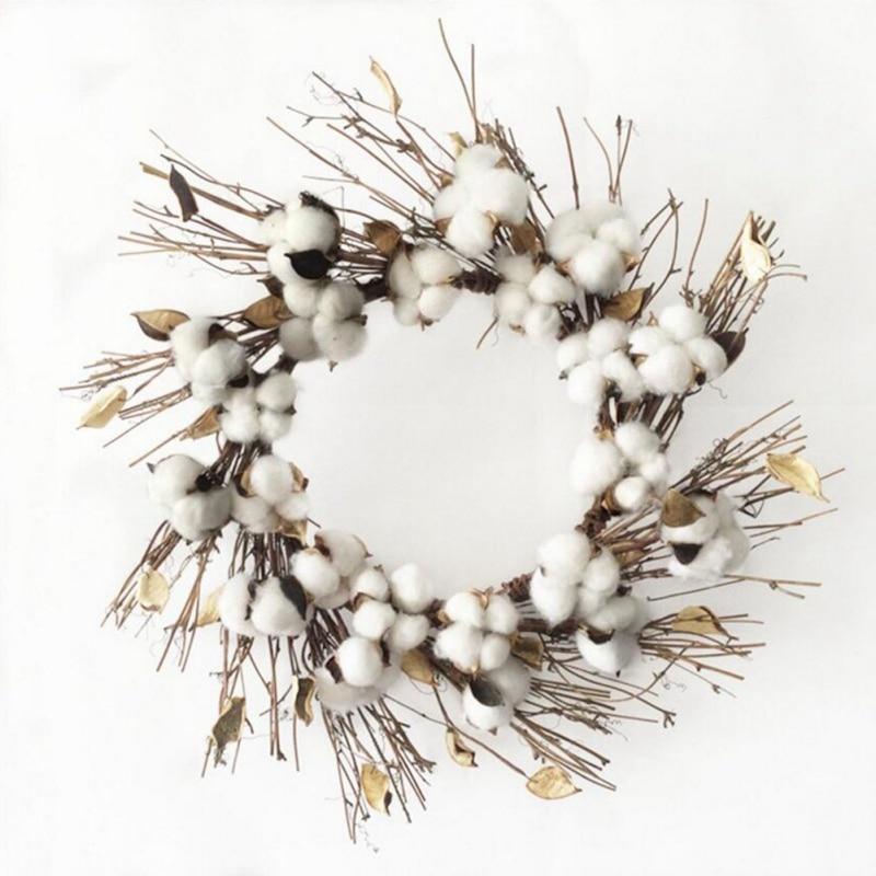 10 pièces boules de coton naturel fleur sèche mariage fleurs séchées plantes fleurs artificielles fête de noël décoration de la maison cinq color1 - 5